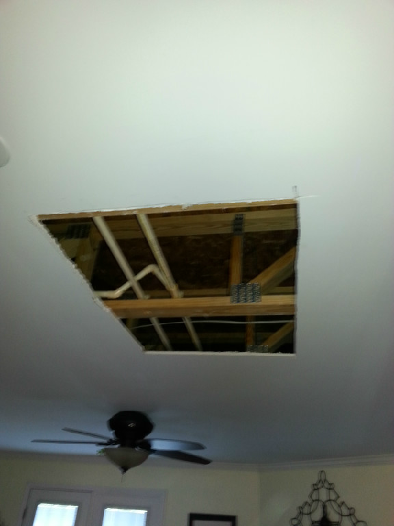 Before/Durham drywall ceiling patch
